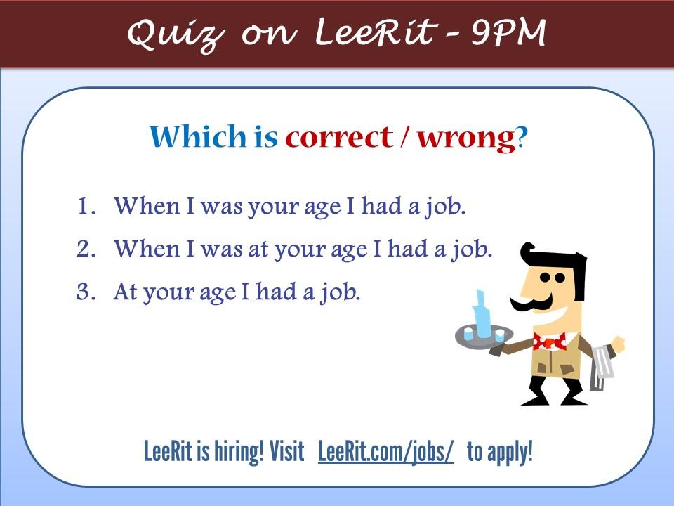 Ngữ pháp tiếng Anh: age